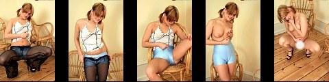 Fishnet Leggings + Tight Light Blue Shorts Naughty spandex Cameltoe + nude