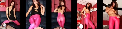 Casting in Pink CamelToe Nylon A little bit Shy but damn sexy 57 sexy Photos - A Petite first time TeenModel