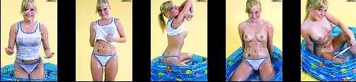 Sexy Amateur model CYLIE Bathing in Studio Tiny wet little girls cameltoe - Transparent clothing + Video