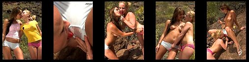 2 sexy Girls in Tight Shorts Cameltoe + Nude pussy Location Grand Canaria Spain
